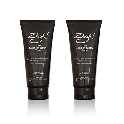 Zhuzh! Twinpack The Best of Both Tans 200ml (Gradual Self Tan and Tan Accelerator Combined)