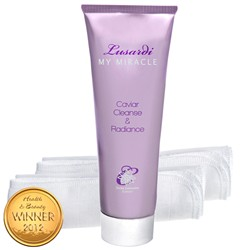 Lusardi My Miracle Caviar Cleanser 120ml with 2 Muslin Cloths
