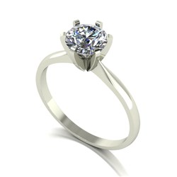 18ct Gold 1.00ct eq Solitaire Ring