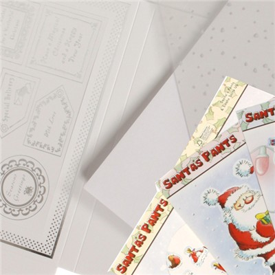 Santa's Pants Framed Card Collection 60 Sheets