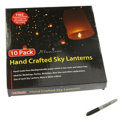 Pack of 1 Chinese Flying Lanterns