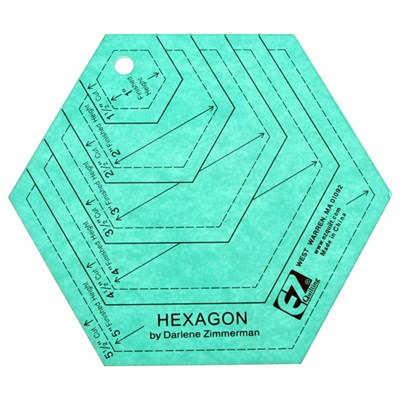 EZ Quilting Hexagon Shapes Rotary Cutting Template