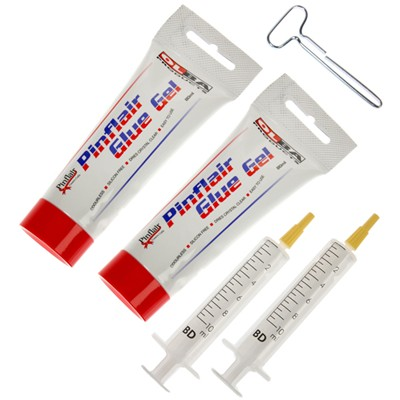 Pinflair Glue Gel Kit - 2 x 80ml Tubes of Glue Gel Syringes and a Squeezer Key