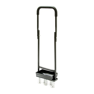 The Handy Hollow Tine Aerator with Folding Handles and Collecting Tray