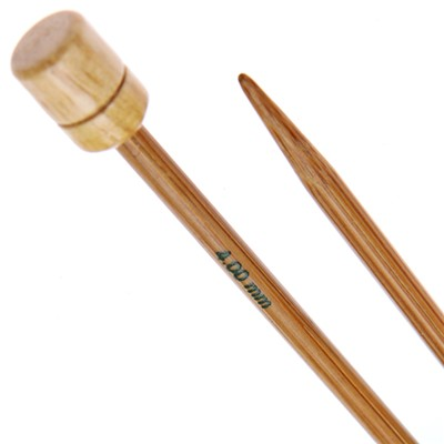 Pony Knitting Needles 4mm - Bamboo 33cm