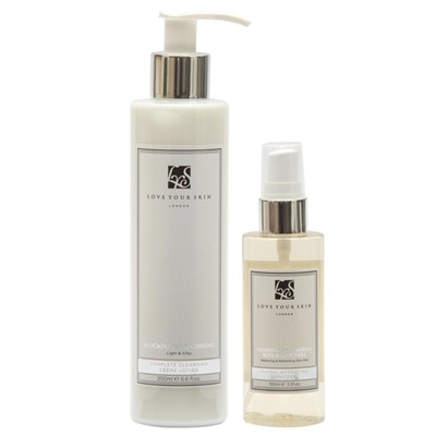 Love Your Skin Cleanser with Floral Water Spritz