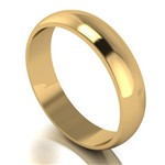 9ct Yellow Gold 5mm D Shaped Wedding Ring