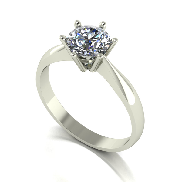 Moissanite 9ct Gold 1.00ct eq Finesse Solitaire Ring White Gold