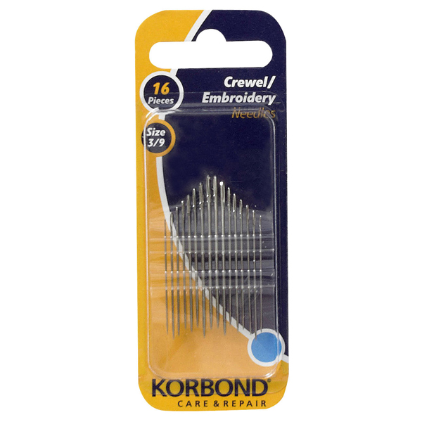 Korbond Embroidery Needles 16 Pieces