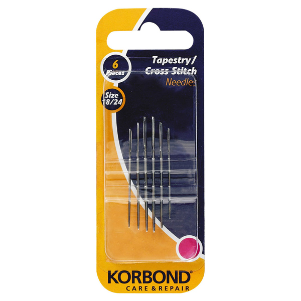 Korbond Cross Stitch Needles 6 Pieces
