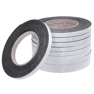Pack of 10 Rolls of 10mm x 2mm x 5M Blac