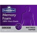 Downland King Size 5cm Memory Foam Topper with Cover