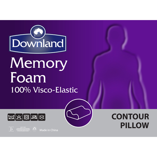 Downland Contour Memory Foam Pillow