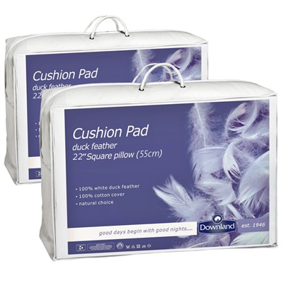 Feather Cushion Pads 55 x 55cm (Pair)