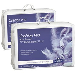 Pair of 55x55cm Feather Cushion Pads