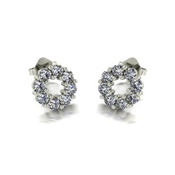 Moissanite 9ct Gold 0.80ct eq Circle of Life Earrings (p)
