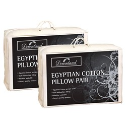 Downland Egyptian Cotton Pillow Pair - 2 for 1