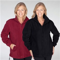 Pack of 2 Anti-Pill Fleece Unisex Fully Lined Jackets