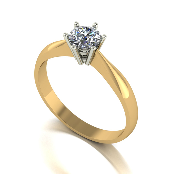Moissanite 9ct Gold 0.50ct eq Finesse Solitaire Ring Yellow Gold