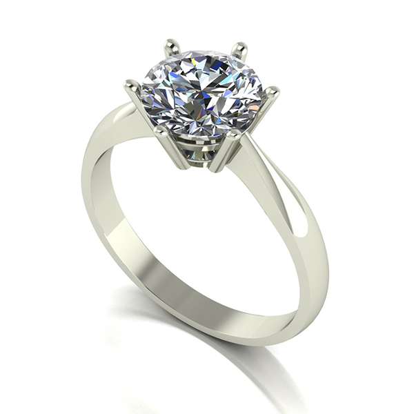 Moissanite 9ct Gold 2.00ct eq Finesse Solitaire Ring White Gold
