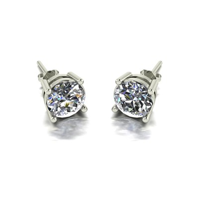 Moissanite 9ct Gold 2.00ct eq Finesse Solitaire Earrings