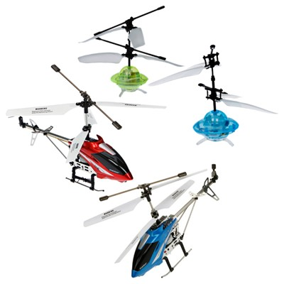 Indoor/Outdoor Gyromax Helicopter plus 2 Cyber Flyers