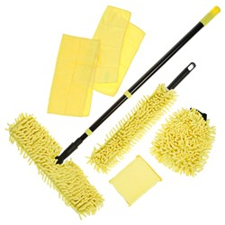 YellO Cleaning Kit 8 Piece Chenille and Microfibre Set