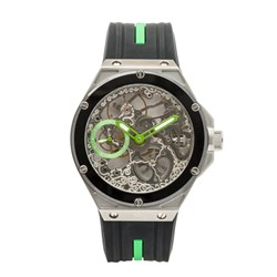 Constantin Weisz Gents Hand Winding Watch with Skeleton Dial, Small Second Indication and Silicon Strap