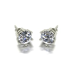 Moissanite 9ct Gold 2.00ct eq Solitaire Earrings