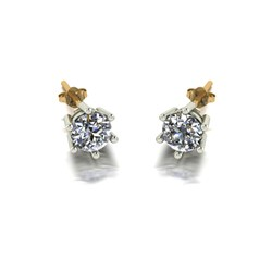 Moissanite 9ct Gold 1.00ct eq Solitaire Earrings