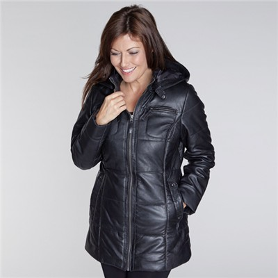 Woodland Leather Ladies' Mid Length Padded Coat