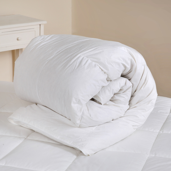 Downland 10.5 Tog White Duck Feather and Down Single Duvet