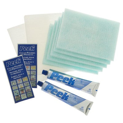 Peek Polish Twin Pack 2 x 100ml Tubes of Polish And 5 Cloths