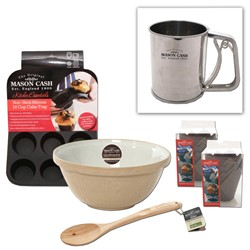 Mason Cash Muffin Baking Set with FREE Flour Shaker