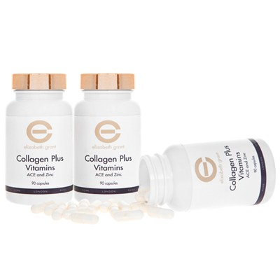Elizabeth Grant Collagen Plus Vitamins - 3 x 90 capsules
