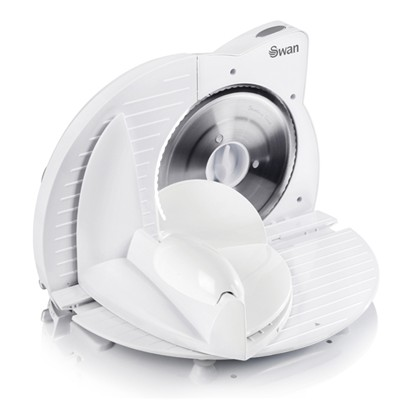 Swan Compact White Food Slicer - White