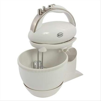 Swan 5 Speed Hand Mixer And Bowl - White