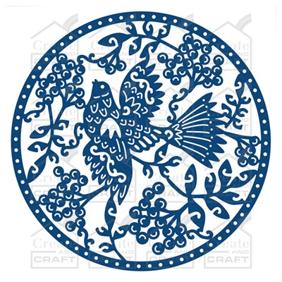 Tattered Lace Oriental Circle Scene Die