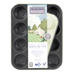 Image of Great British Bake Off Vintage 2 Tone 12 Cup Nonstick Muffin Tin