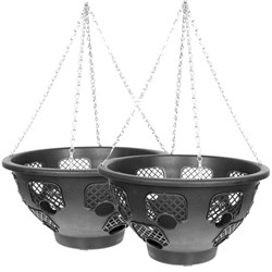 Pair of 14 inch Easy Fill Hanging Baskets