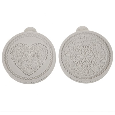 Katy Sue Designs Heart and Floral Lace Cupcake Moulds