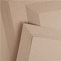 Crafters Companion Pack of A4 Brown Kraft Card - 50 Sheets
