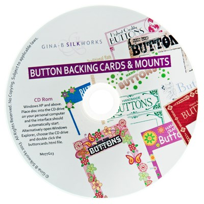 Button Backing Cards And Mounts CD ROM