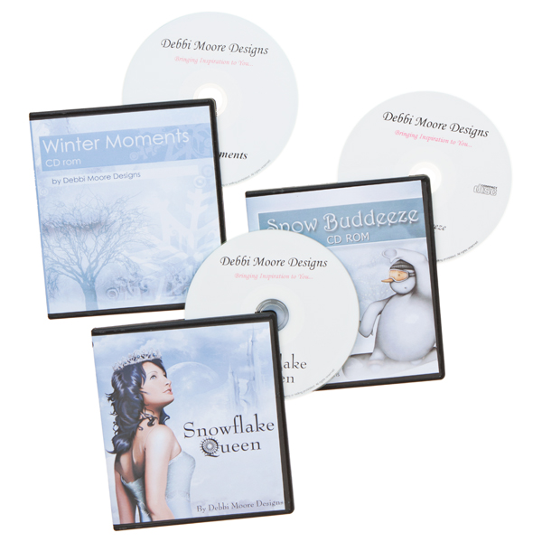 Debbi Moore A Touch of Winter 3 CD ROM Collection