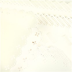 Create and Craft Pack of 50 A5 Cream Scalloped Card and Envelopes