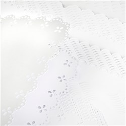 Create and Craft Pack of 50 A5 White Scalloped Card and Envelopes