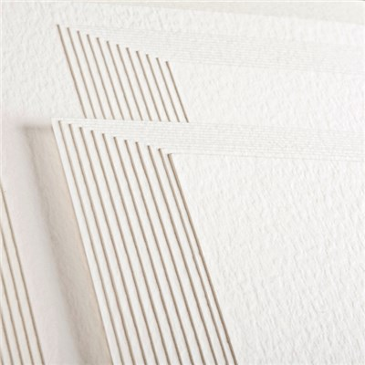 Create and Craft Pack of 50 Cream and White A4 Hammered Card 300GSM