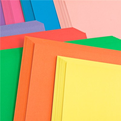 Create and Craft Pack 100 A4 Plain Rainbow Card 250GSM