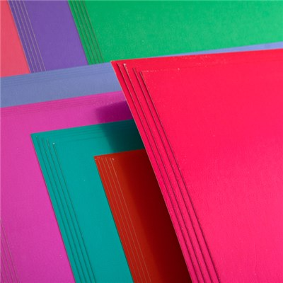 Create and Craft Pack of 50 A4 Mirror Board - Brights 250 GSM