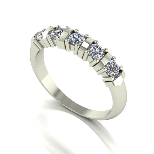 Moissanite 9ct Gold 0.50ct eq Eternity Ring